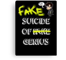 Fake suicide of genius. Canvas Print
