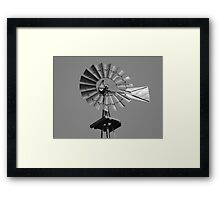 Windmill in black and white Framed Print