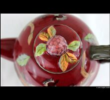 Vintage Ceramic Teapot Lid Detail by © Sophie W. Smith