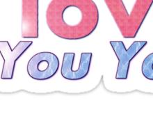 I love the You Yangs - dark background 2 Sticker