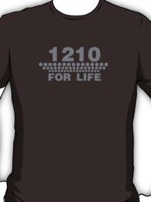 1210 For Life - Technics Turntable Vinyl T-Shirt