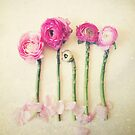 Asparagus and Pink Flowers by Olivia Joy StClaire