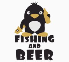 Fishing And Beer Penguin by Style-O-Mat