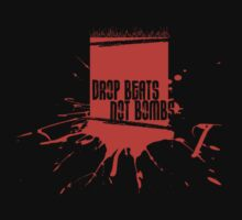 Drop Beats Not Bombs Graffiti Kids Clothes