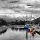 Crinan Canal Scotland by Lynn Bolt