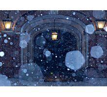 Snowfall at Upham Photographic Print