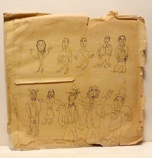 drawing on brown paper by Stacey Lazarus