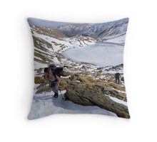 Hot in the Snow Throw Pillow
