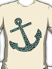Mint Leopard Anchor T-Shirt