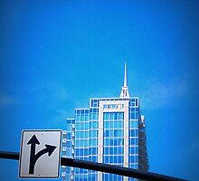 Blue Sky Blue Bldg by JimDukes