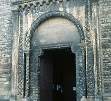 North Side door into transept Paray le Monial 198403070049 by Fred Mitchell