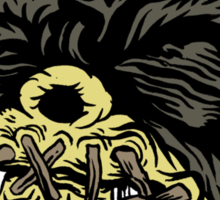 Shrunken-Head Nibbler Sticker