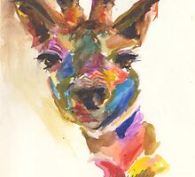 Giraffe of Many Colors by daniyellow
