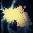 Chidori- Sasuke iPhone Case by squidkid