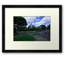 Too Many Signs For One Street Corner Framed Print