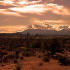 Mountain at Sunset by Norbert Karpen