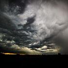 Sunset vs Rainstorm by Norbert Karpen
