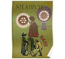 Rat Race Vintage Steampunk Design Poster