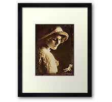 I never played with Dolls ..  Framed Print