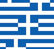 Smartphone Case - Flag of Greece - Patchwork by Mark Podger