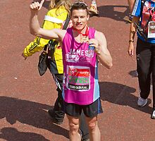 James Toseland English former Motorcycle racer with his Marathon Medal by Keith Larby