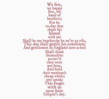 Henry V Speech Shirt by syrensymphony