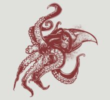 Angry Octopus In Red by pjwuebker