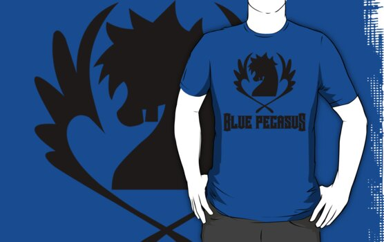 Blue Pegasus Guild Tee by lazerwolfx