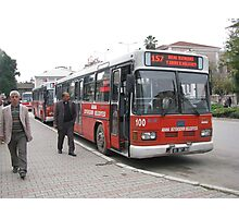 The bus in Adana Photographic Print