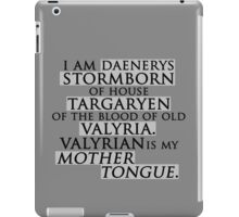 Daenerys Quote iPad Case/Skin