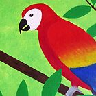 Colorful Parrot  by Kelly Betts