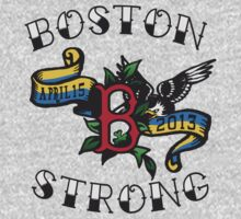 Boston Strong Vintage Tattoo Tee by DCVisualArts