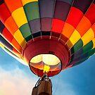 Hot Air Balloon in Flight by KellyHeaton