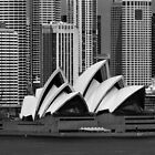Sydney Opera House B/W by Tim Schoch