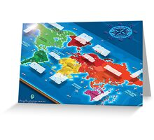 World Map in Isometric Greeting Card