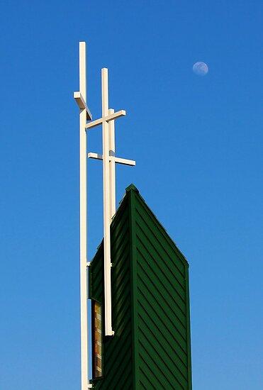 Moon Over Grayson Bible Baptist Church by aprilann