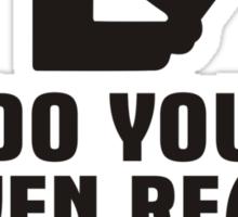 Do You Even Read Bro? Sticker