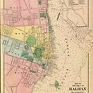 Vintage Map of Halifax Nova Scotia (1878) by alleycatshirts