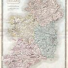 Vintage Map of Ireland (1850) by alleycatshirts