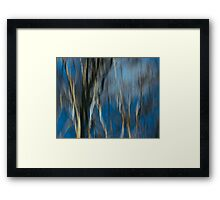 Abstract ~ Trees Framed Print