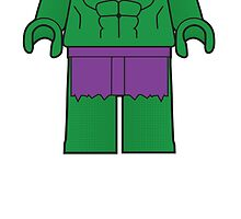 The Hulk Body Tshirt by Jonathan  Ladd