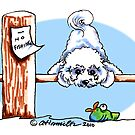 Bichon Frise Dock Dog by offleashart