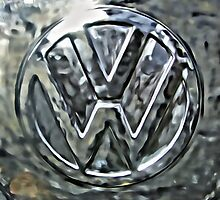 VW Camper Chrome Badge  by Matt Kennedy portraits