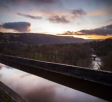 river dee seen from pontcysyllte aqueduct by James Calvey