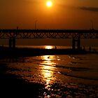 Mackinac Bridge at Sunset by pratt1ak