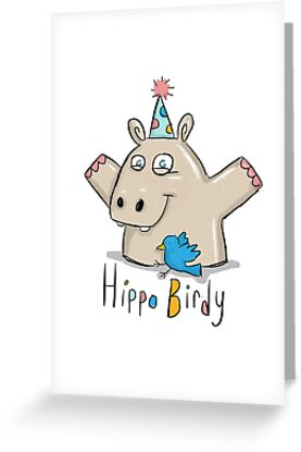 Hippo Birdy! by twisteddoodles