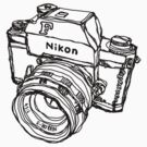 Nikon F Classic Film Camera Illustration by strayfoto