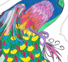 Rainbow Peacock Sticker