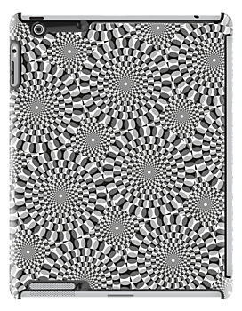 Turning Wheels Pattern / iPad Case (Grey) by MrFaulbaum