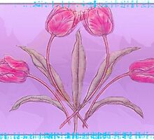 Pink Tulips by Tickleart